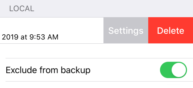 Exclude from backup